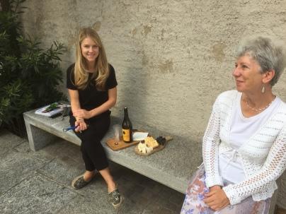 With Kristina, Lugano