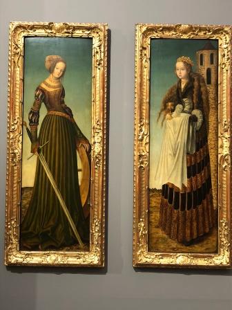 Кранах. Св. Екатерина и Варвара